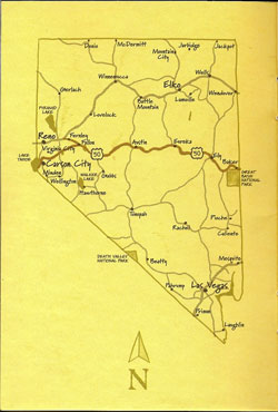 map of Highway 50