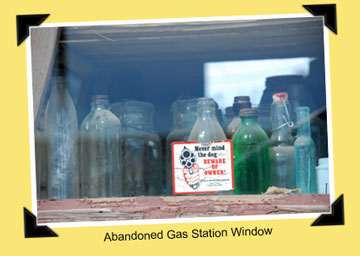 gas station window