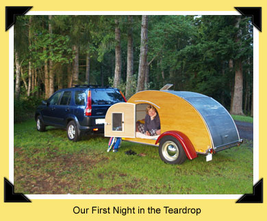 first night in the teardrop
